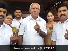 """101% Son Will Win"": BS Yeddyurappa As Karnataka Votes In Crucial Bypolls"