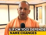 "Video : ""Why Isn't Your Name Raavan?"": Yogi Adityanath Defends Allahabad Renaming"