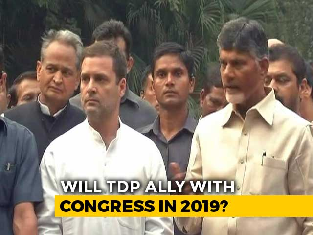 "Video : ""Idea Is To Defeat BJP"": Rahul Gandhi, Chandrababu Naidu Join Hands"