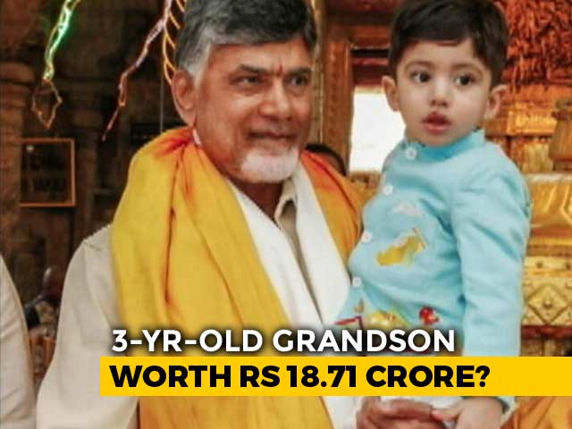 Video : Chandrababu Naidu Declares Assets, 3-Year-Old Grandson 6 Times Richer