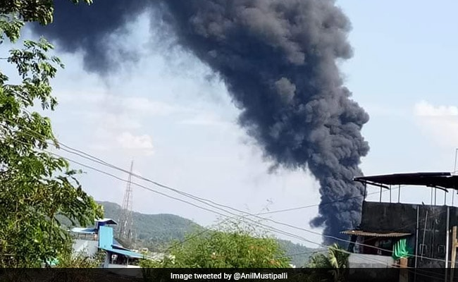Massive Fire At Chemical Factory In Mumbai's Ambernath, 4 Injured