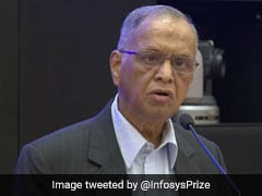 """Not Used To Delays,"" Says Narayana Murthy At Event, Jeff Bezos Present"