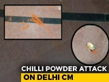 Video : Chilli Powder Thrown At Arvind Kejriwal Near His Office, Attacker Caught