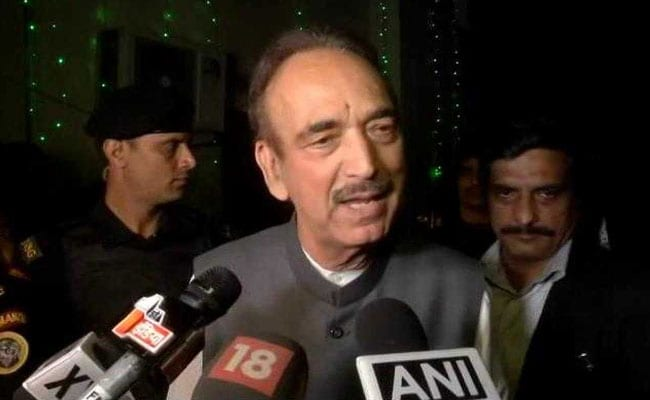 PM Modi Told Opposition That The Budget Will Be Interim: Ghulam Nabi Azad