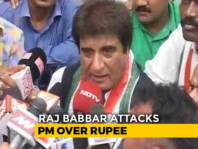 "Video : Controversy Over Raj Babbar's ""Rupee Nearing PM Mother's Age"" Remark"
