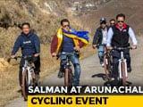 Video : Salman Khan Goes Cycling With Kiren Rijiju, Pema Khandu In Arunachal