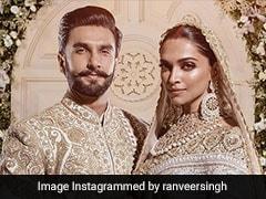 Deepika Ranveer Mumbai Wedding Recption: राजशाही अंदाज में दिखी रणवीर-दीपिका की जोड़ी, देखें Pics
