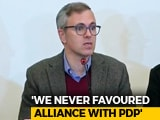 "Video : ""Prove It"": Omar Abdullah After J&K Governor Alleges Money Changed Hands"