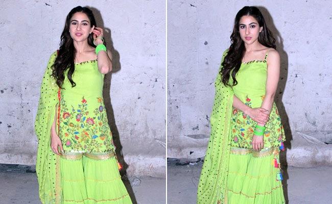 Be A Gorgeous <i>Desi</i> Girl Like Sara Ali Khan. 5 Glam <i>Sharara</i> Suits To Buy