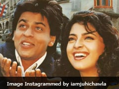 Shah Rukh Khan's Birthday Wish For <i>Darr</i> Co-Star Juhi Chawla Is The Cutest Thing On The Internet Today