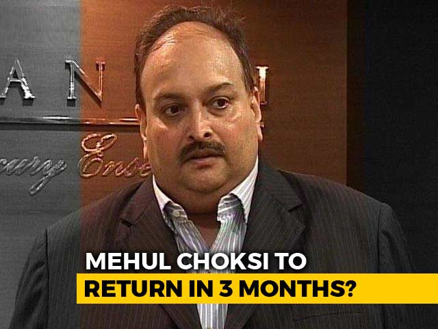 Video : Mehul Choksi May Return To India In 3 Months If Medically Fit: Lawyer