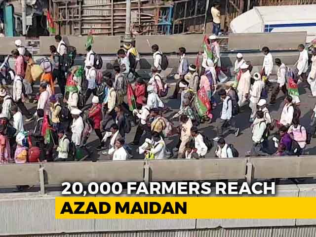 Video : Thousands Of Farmers Reach Mumbai To Demand Loan Waiver, Aid
