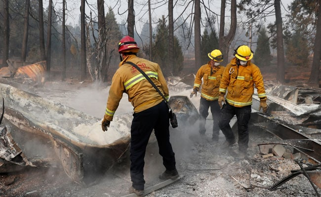 Mailboxes On Fire, Exploding Propane Tanks: Evacuees Escape US Wildfire