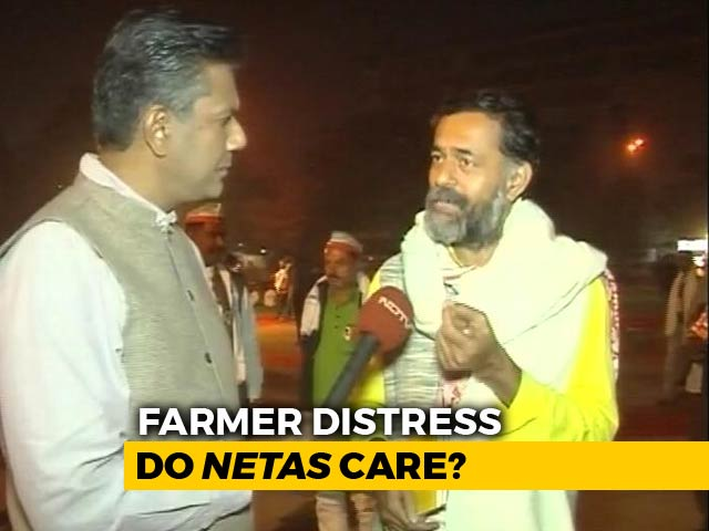 "Video : ""<i>No Acche Din For Us</i>"" Say Farmers As Thousands Arrive In Delhi"
