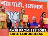 Video: 50 Lakh Jobs In 5 Years, BJP Promises Ahead Of Rajasthan Polls