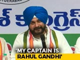 "Video : ""Rahul Gandhi Is My Captain, He Sends Me Everywhere"": Navjot Sidhu"