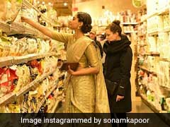 Just Sonam Kapoor Shopping For A Snack Wearing A Stunning <I>Saree</I>. See Throwback Pic