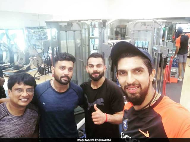 India vs Australia: The Indian skipper posted a photograph on social media of their gym session