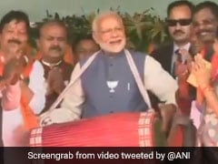 Watch: PM Modi Plays Traditional Drum At Chhattisgarh Rally