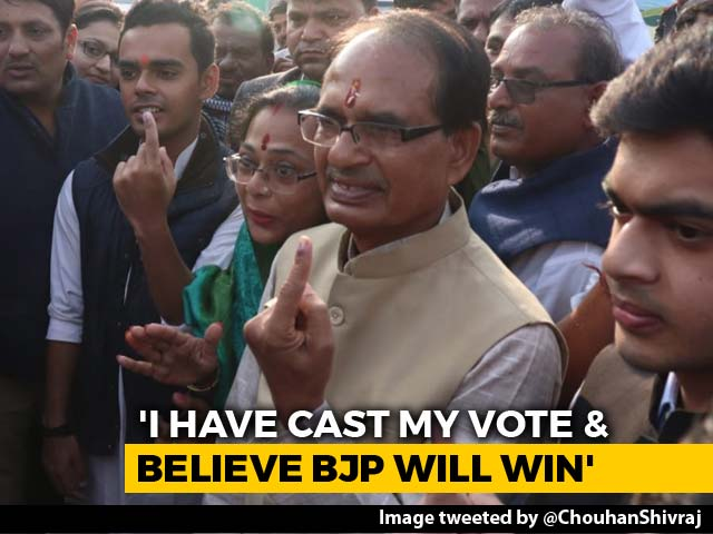 Video : Shivraj Singh Chouhan Says Confident Of Win In Madhya Pradesh