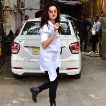 Here's How To Get Taapsee Pannu's Casual Shirt And Boots Look