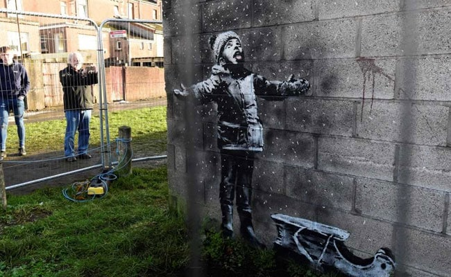 'Drunk halfwit' attacks new Banksy artwork