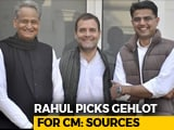 Video : Ashok Gehlot For Rajasthan, Say Sources. Rahul Gandhi's Hint On Twitter