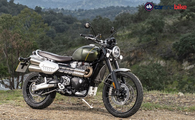 The Triumph Scrambler 1200 comes in two trim options - Scrambler 1200 XC and Scrambler 1200 XE