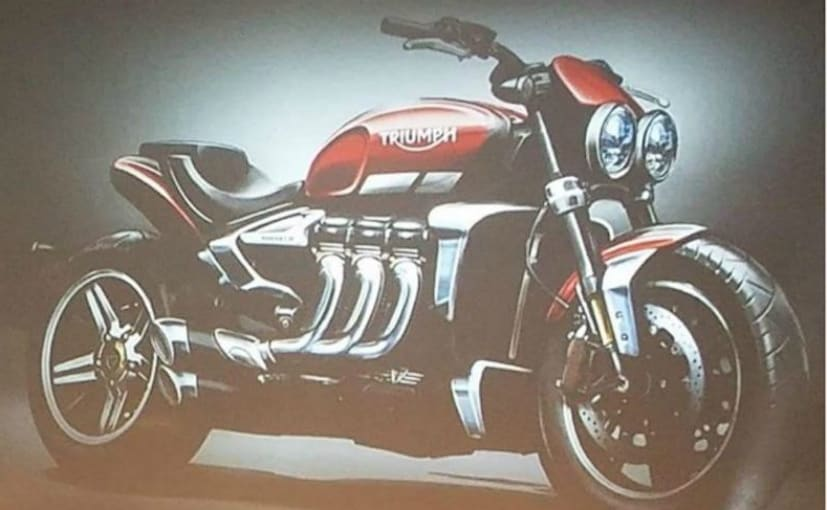 A rendered image of the 2019 Triumph Rocket III was showcased at a recent dealer meet