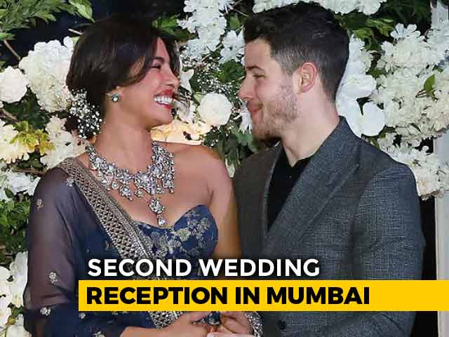 Video : Can't Take Eyes Off Priyanka Chopra And Nick Jonas At Mumbai Reception