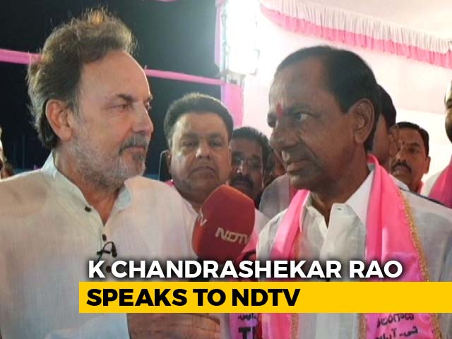 "Video : ""I'm A Warrior, Not A Beggar"": NDTV Exclusive With K Chandrashekar Rao"