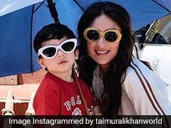 राज कपूर की तरह तैमूर ने क्लिक कराई तस्वीर, यूं छाते के नीचे चश्मा लगाकर दिया मम्मी के साथ पोज