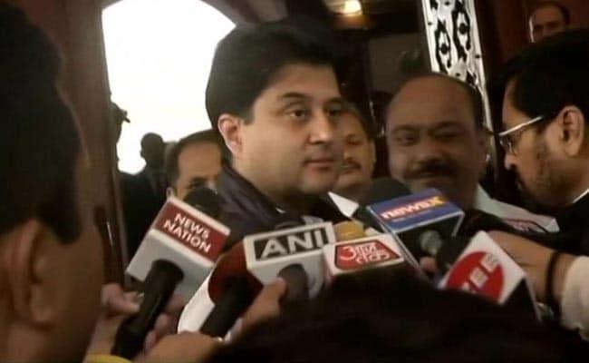 "Jyotiraditya Scindia Asks BJP To ""Introspect"" Over Pragya Thakur's Remark"
