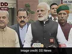संसद में मीडिया के सामने आए पीएम मोदी, संसद के सत्र को लेकर दिया बयान