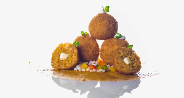 Japanese Curry Arancini With  Barley Salsa