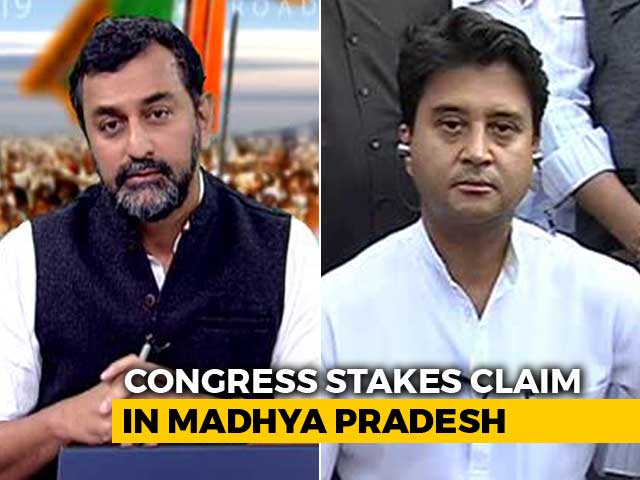 "Video : ""Would Be Honoured To Serve,"" Says Jyotiraditya Scindia On Chief Minister"