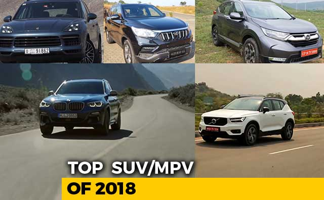 Video : Top 5 SUVs of 2018