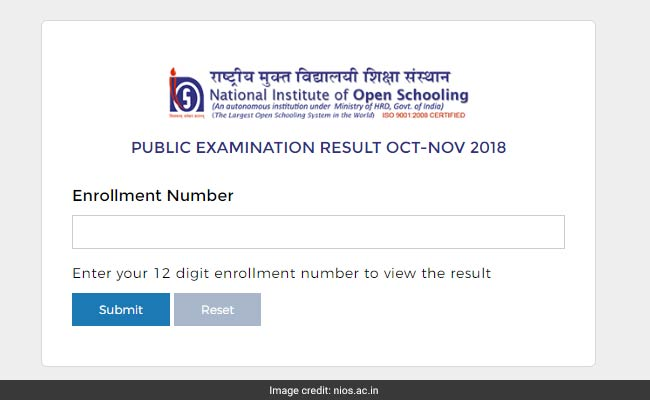 NIOS Result, nios result 2018 class 12 october exam, nios result, nios result 2018, nios result 2018 october, nios 10th result, nios 12th result