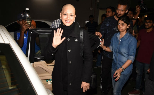 Image result for sonali bendre in mumbai after treatment