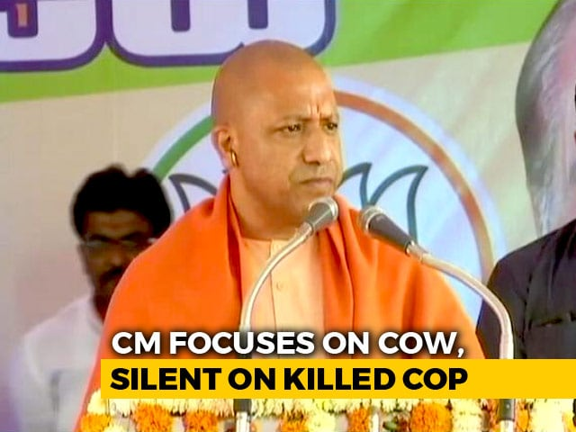 Video : In Meet After Cop's Mob-Killing, Yogi Adityanath Focuses On Cow Slaughter