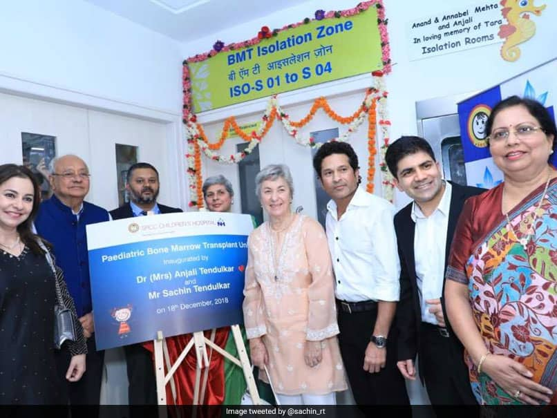 Sachin Tendulkar Bats For Social Cause, Inaugurates Bone Marrow Transplant Unit In Mumbai