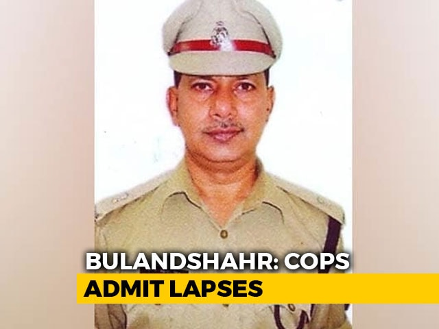 Video : Police Chief In UP's Bulandshahr Removed After Cop Killed In Mob Violence