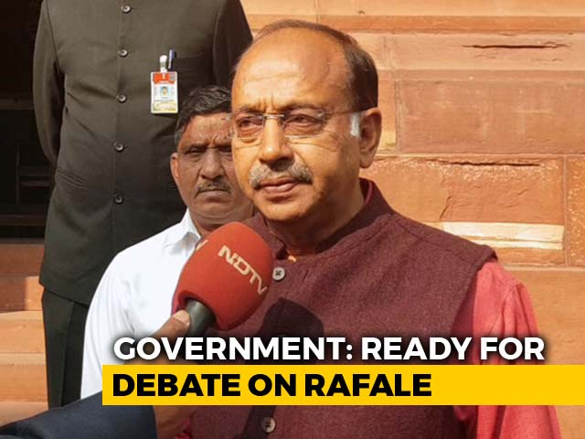 Video : Ready For Rafale Debate In Parliament, Congress Running Away: Vijay Goel