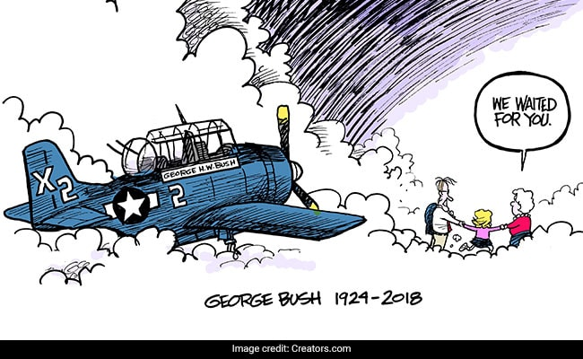 This Emotional HW Bush Cartoon Went Viral, Touching Even His Family