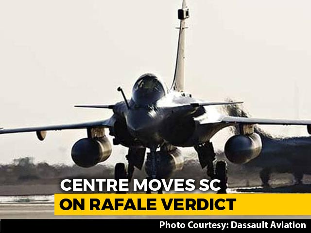 "Video : Centre Asks Top Court To Fix ""Factual Error"" In Rafale Order"