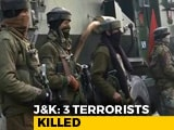 Video : 3 Terrorists Shot Dead, Soldier Injured In Encounter In Srinagar