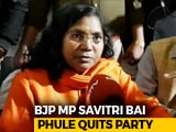 "Video : UP Lawmaker Savitri Bai Phule Quits BJP: ""Party Trying To Divide Society"""