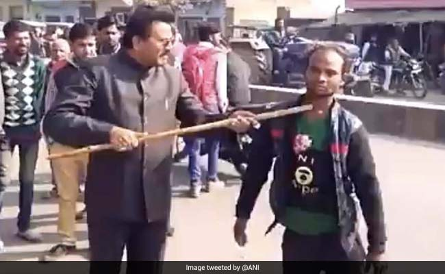 BJP Leader Beats Differently Abled Man Who Said 'Will Vote For Akhilesh'