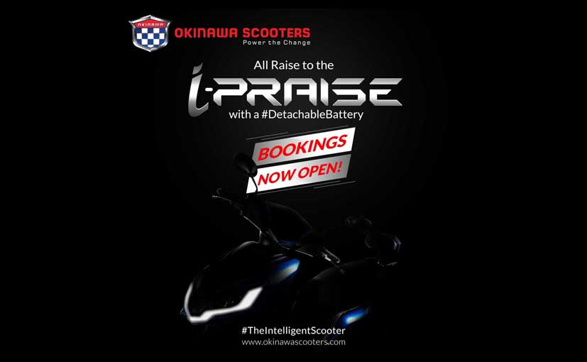 Pre-bookings for the Okinawa i-Praise e-scooter will begin on December 14 for Rs. 5000