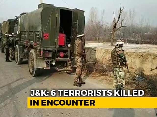 Video : Deputy Of Kashmir's Most Wanted Terrorist Among 6 Killed In J&K's Pulwama